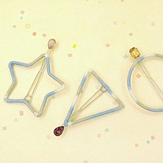 HUKUROU blue gradient geometric hairpin