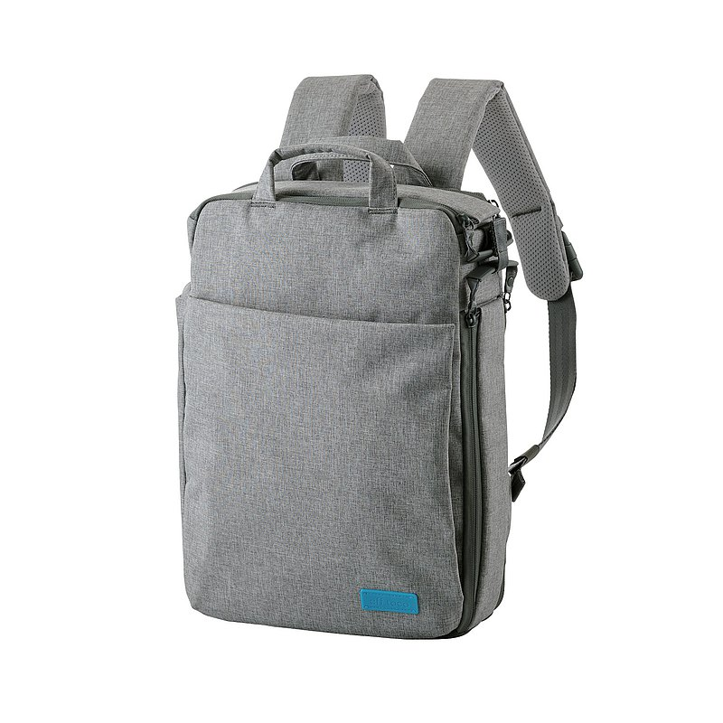 ELECOM Canvas 3WAY Thin Backpack/Gray