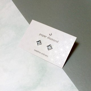 Cute little Silver Origami paper diamond Earrings