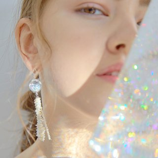 Jellyfish Snowball Earrings