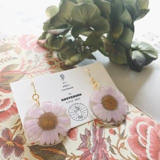 |Souvenirs | original handmade flowers 30mm lilac lilac flowers 925 gold plated earrings earrings