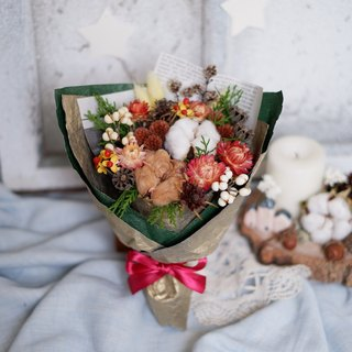 To be continued | Christmas dried flowers bouquet exchange gift gifts Home Furnishing decoration small things to heal Christmas spot