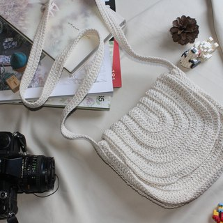 Crossbody Bag ,White Crochet Bag ,Boho Bag ,Shoulder Bag