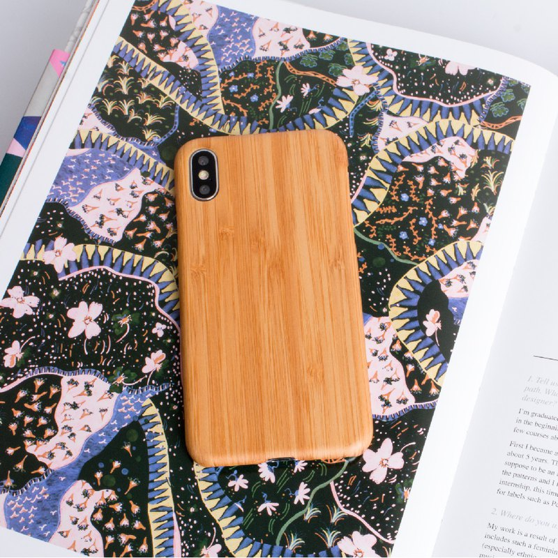 [Pure Wood Phone Case] iPhone XS Max - Carbonized Bamboo