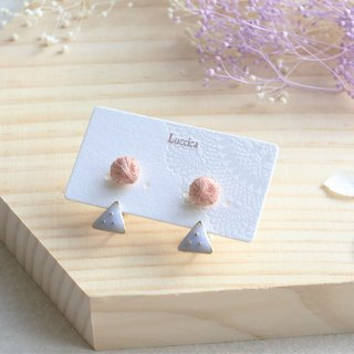 Handmade sewing earrings