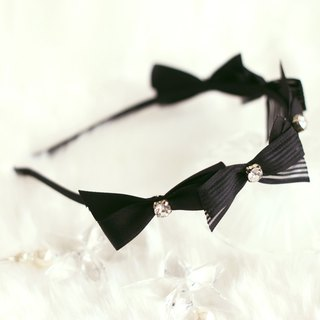 Pretty Ribbon with Rhinestones Decoration Headband