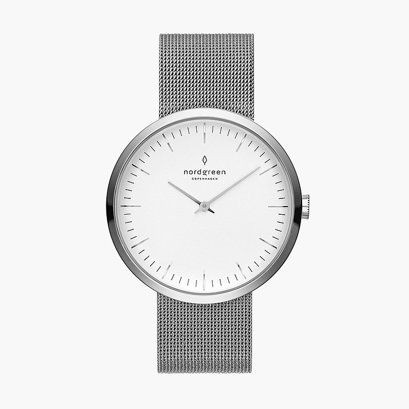 [Nordgreen] Infinity Infinity Moonlight Silver Series Moonlight Silver Titanium Steel Milan Strap Watch 32mm