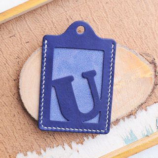 Initial U letter certificate set well stitched leather material package card holder business card holder free engraving