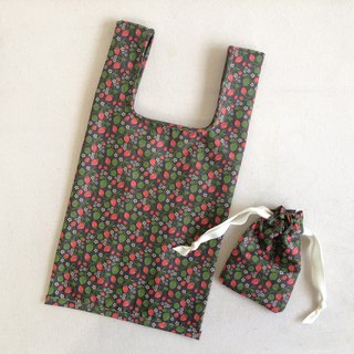 British small wild banana floral shopping bag