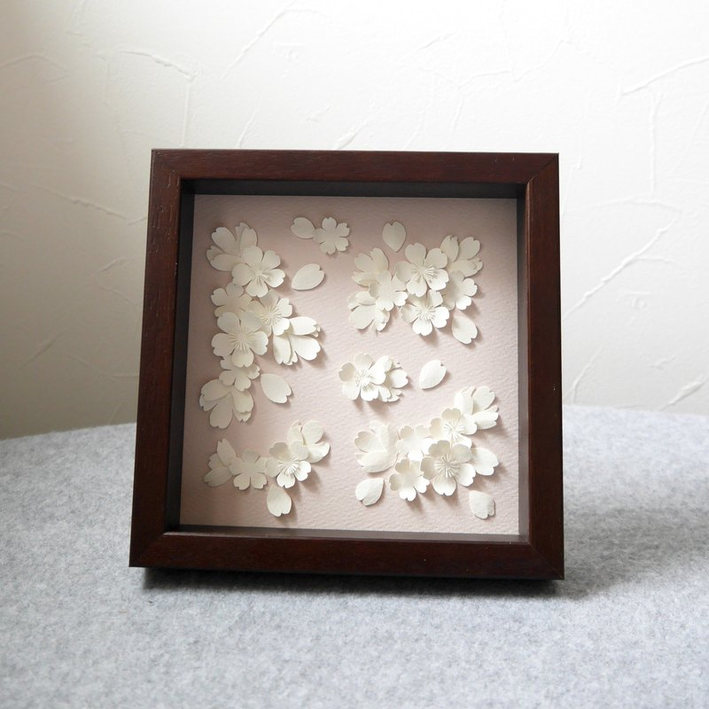Cherry Paper Art Frame