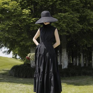 Turtle Neck Ruffle Maxi Dress