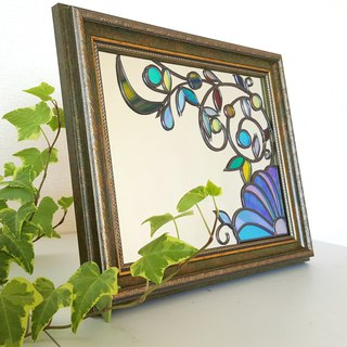 "Desktop / wall hanging fountain mirror ""Winter Flower"""