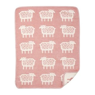 Baby blanket / Mi Yueli Sweden Klippan organic cotton blanket - Q hairy sheep (small) cheek powder