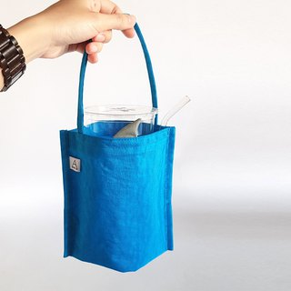 New iron ash shark fin / shark comes eco-friendly drink cup bag / bag type / blue sea shark