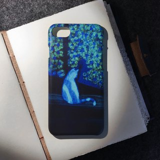 Blue cat at night. Matte Case (iPhone, HTC, Samsung, Sony)