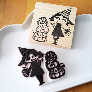 [Navirt handmade chapter X seals the king seal] witch and pumpkin