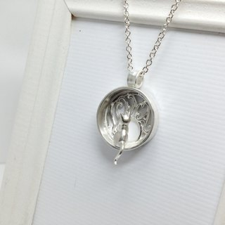 Cat Memorial Silver Personalized Cat Necklace Jewelry Cat Lover Gift Cat Pet Love Loss Silver necklace Cat Window Cat Name by IONA SILVER