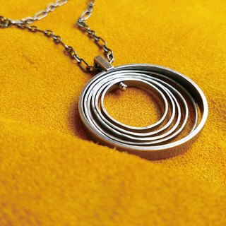 Spinning circle 925 silver handmade silver chain / Ag No. 026