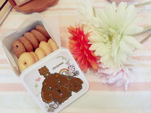 ‧ a small tin mini cookies [small dog models - poodle] BraveMommy • Our hand-made desserts.