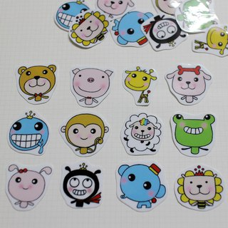 Mini Sticker Pack_Lovely Zoo (20 in)
