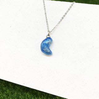 【Blue Moon】-Hook Moon Necklace