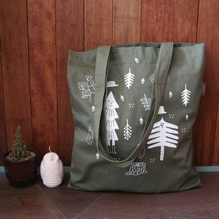 CBB Boys Circus - Cotton Tote Bag 03M - Green Forest, CBB36446