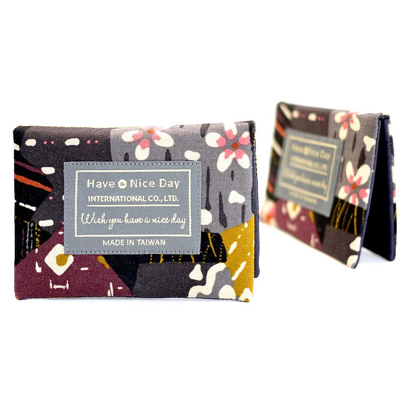 [Zhang Zhang Youli] Cloth business card holder-purple cooking smoke