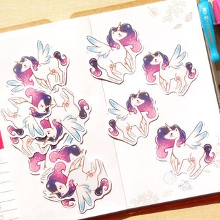 Unicorn Stickers - 12 Pieces - Gifts for Her, Party Favors, Planner Stickers