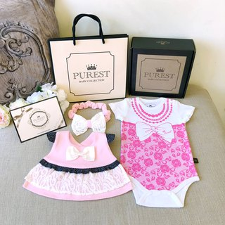 PUREST When the little lady meets the little princess's gorgeous dress/baby gift set/newborn/moonmoon gift