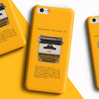 Type writer Olivetti Lettera - Yellow Phone case
