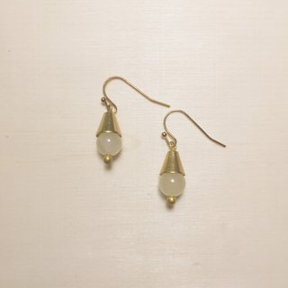 Light topaz short tapered earrings