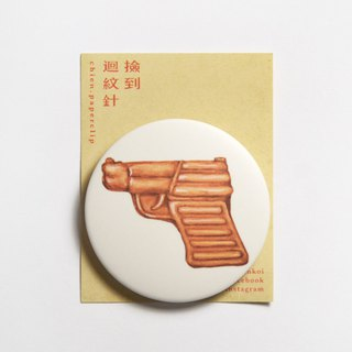Magnet badge badge - chicken cake gun