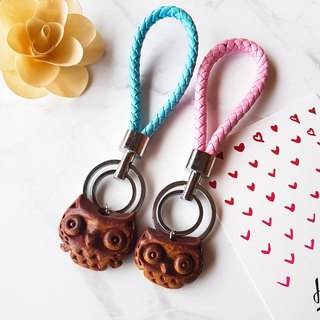 B-18 Couple Eagle Charm│Yoshino Hawk x Owl Key Ring Pure Handmade Design Pottery Necklace Healing Cute Valentine's Day Gift