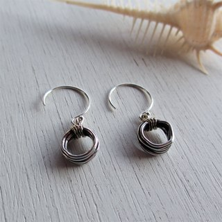 Wire Silver × K18 earrings