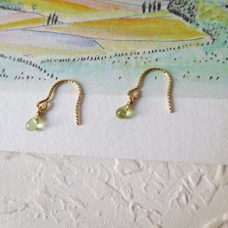 Pack 14K gold mini grape stone sheer earrings