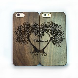 Custom solid wood couple mobile phone shell, iPhone Samsung mobile phone shell, couple mobile phone shell, even Lizhi