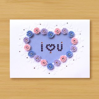 Handmade Roll Paper Card _ Love Pattern I Love You_C ... Mother Card, Valentine Card