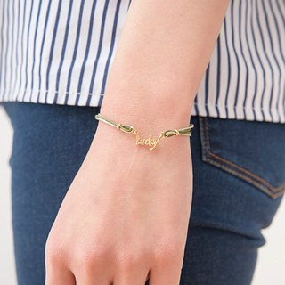 eleblo anti-static Lucky words bracelet red / gold / green SHF