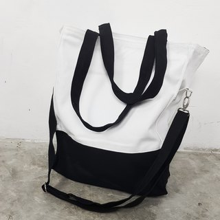 BLACK AND WHITE TWO WAY BAG
