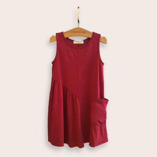 Comoyo - Asymmetrical styling pocket dress