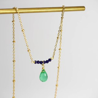 Palace style aristocratic girl faceted water drop gemstone necklace