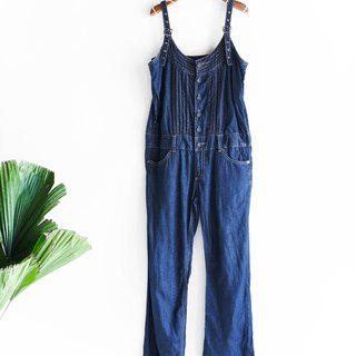 River water mountain - Tokushima youth indigo sea blue girl with tannins harness trousers pound neutral Japanese overalls oversize vintage