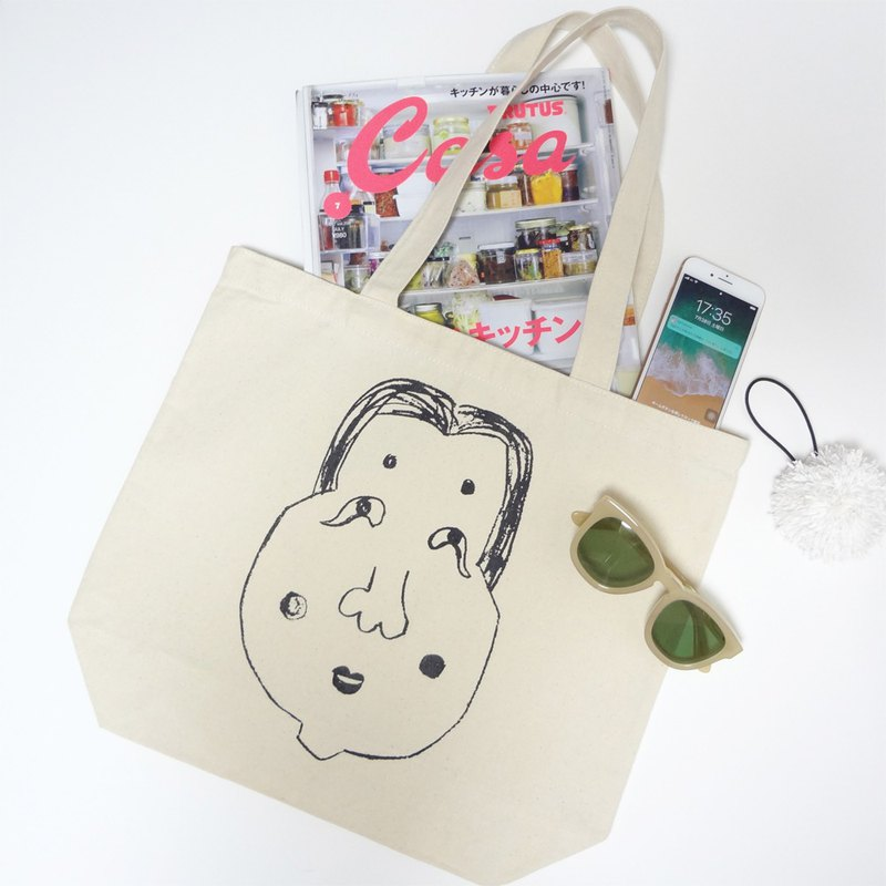 Okame Canvas Tote Bag M L