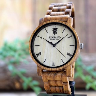 EINBAND Reise Zebrawood 40mm Wooden Watch