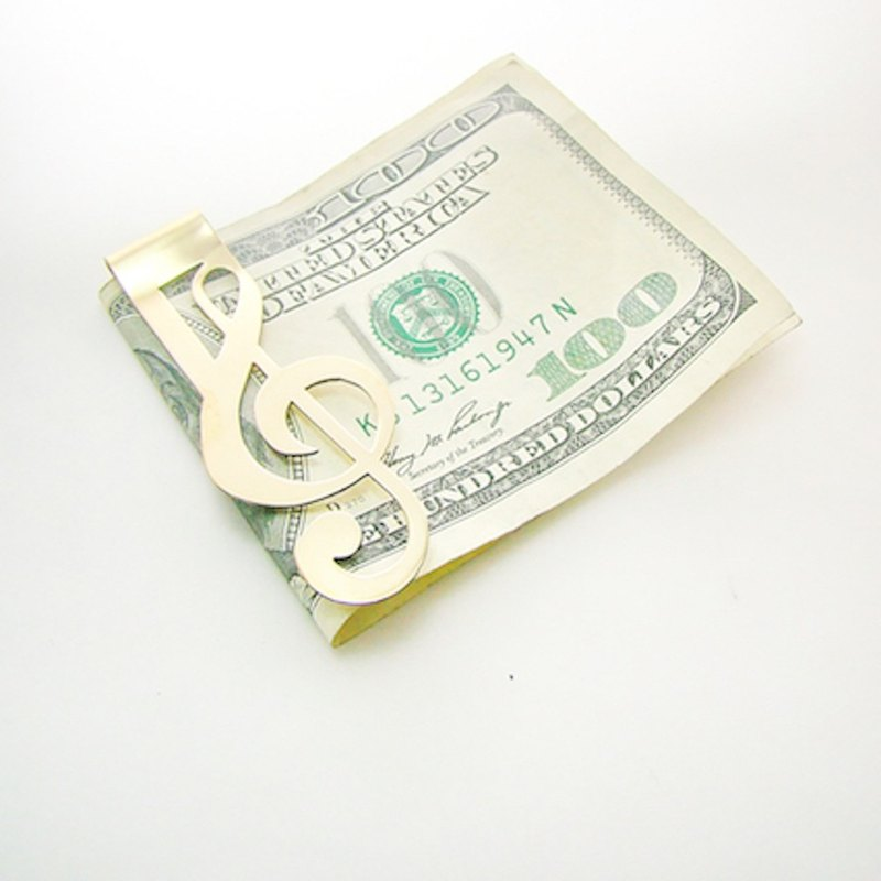 G-clef money clip in brass,Rocker jewelry ,Skull jewelry,Biker jewelry
