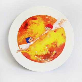 Venus | Venus I love you | Ceramic water coaster coaster