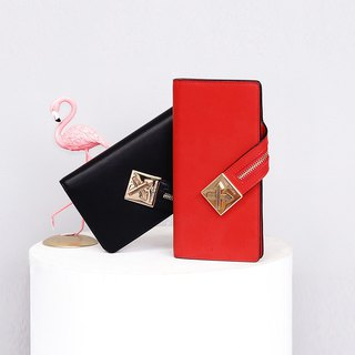 [Hong Kong, Macao and Taiwan] MBS long section leather ladies wallet mini portable woc small backpack