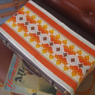 classic geometric orange  table cloth