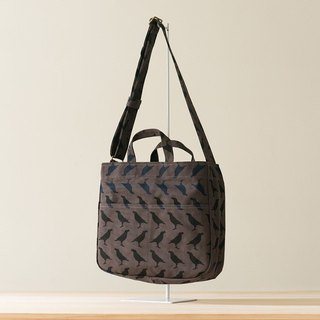 Holiday Big Crossbody Bag / Crested Myna No.5 / Blacksmith
