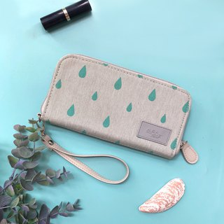 green printed wallet